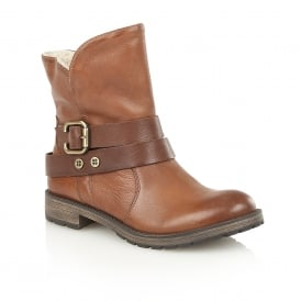 Talley Tan Leather Ankle Boots