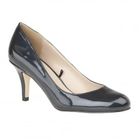 Navy Altar Metallic Patent Court Shoes