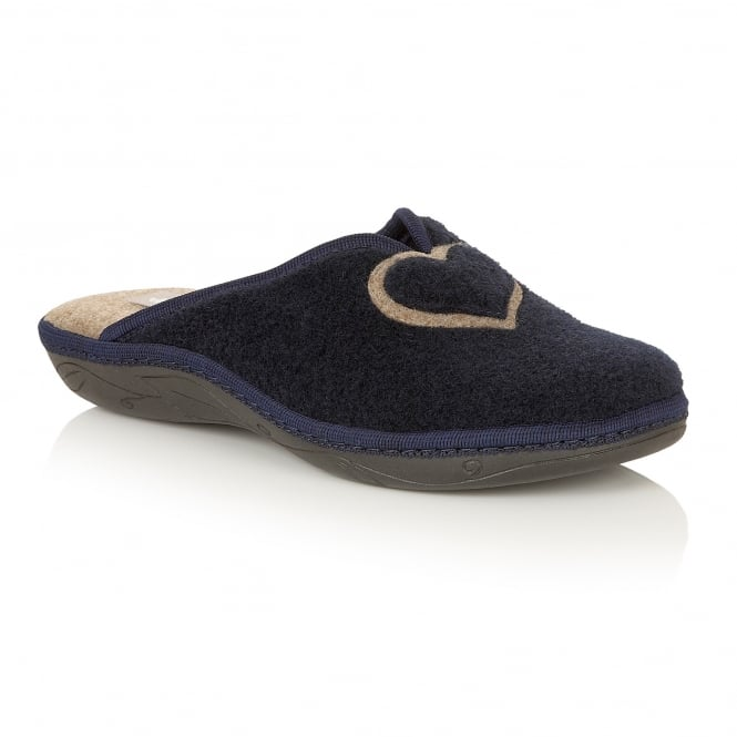 Navy Augusta Mule Slippers | Lotus