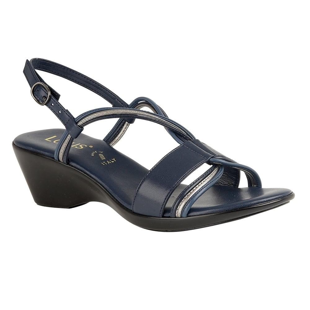 Buy The Navy Lotus Ladies Carrara Wedge Sandal Online