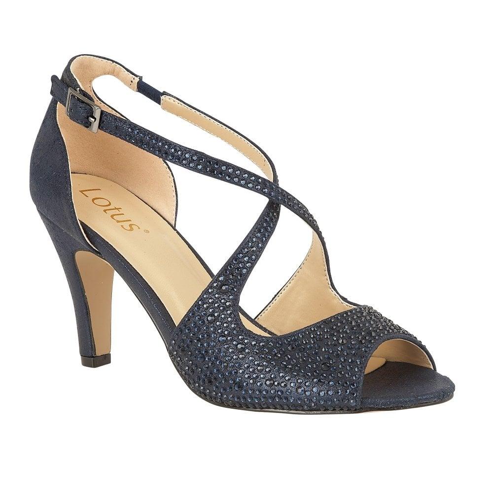 Lotus ladies' Rosa court shoe in navy