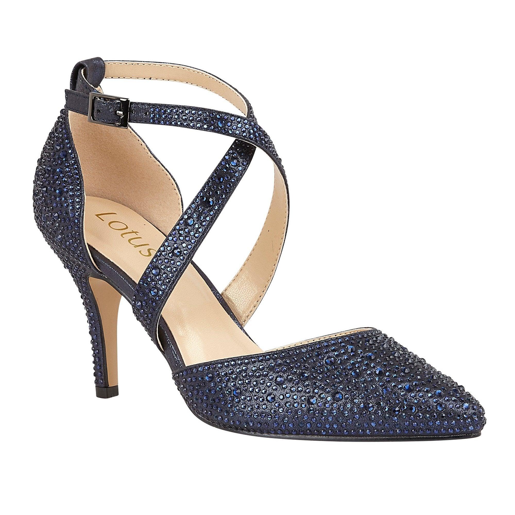 navy Lotus ladies' Star court shoes