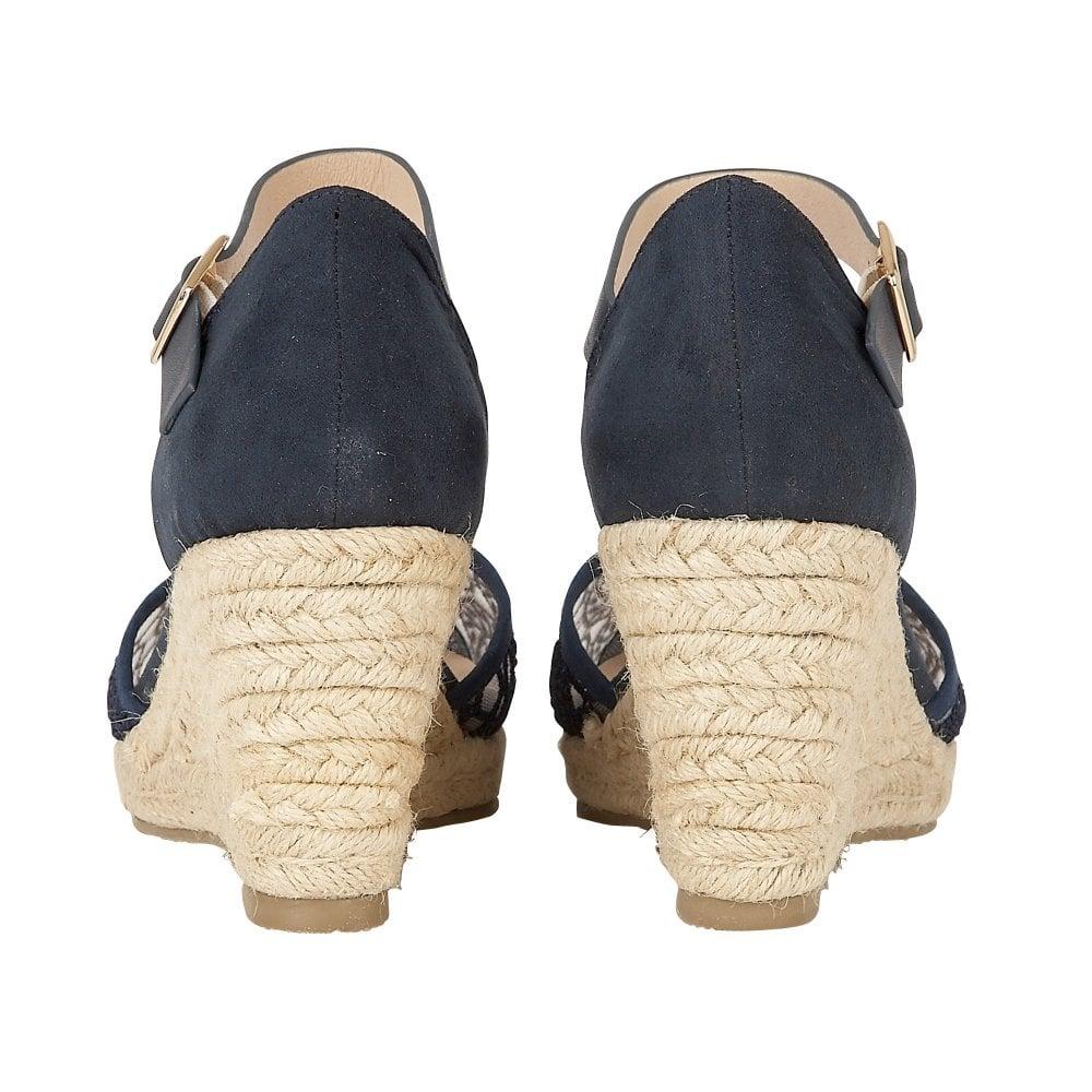 84bb10ee364 Buy the navy Lotus ladies  Eartha wedge shoe online