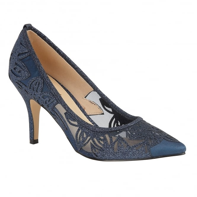 Navy Glitz Groove Court Shoes | Lotus
