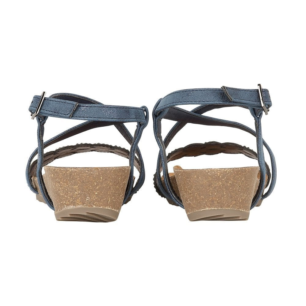 504f516dc Buy the navy Lotus ladies  Sienna sandal online