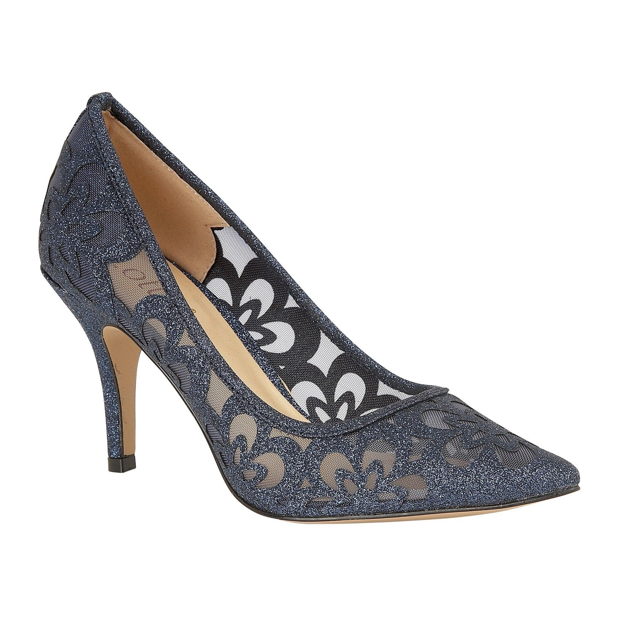 navy Lotus ladies' Sparkle court shoe