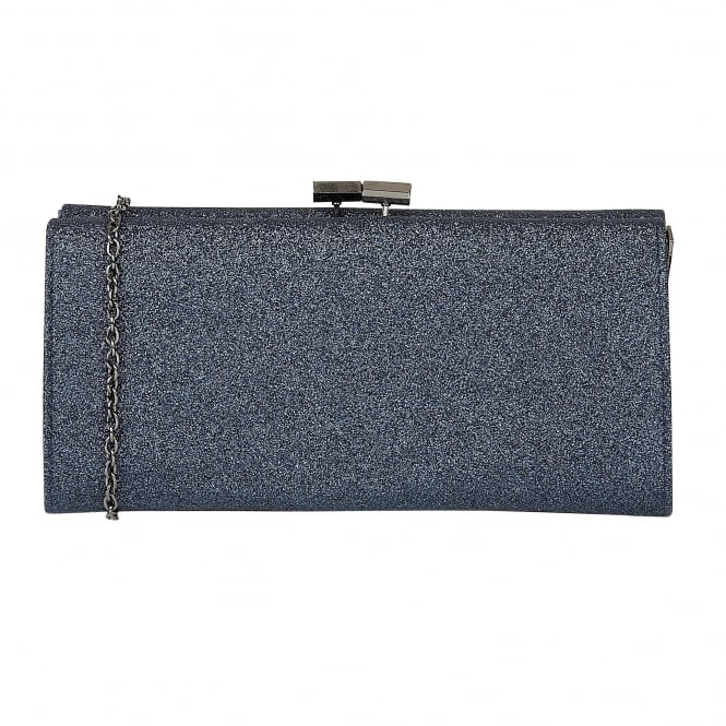 Navy Glitz Vibe Clutch Bag | Lotus