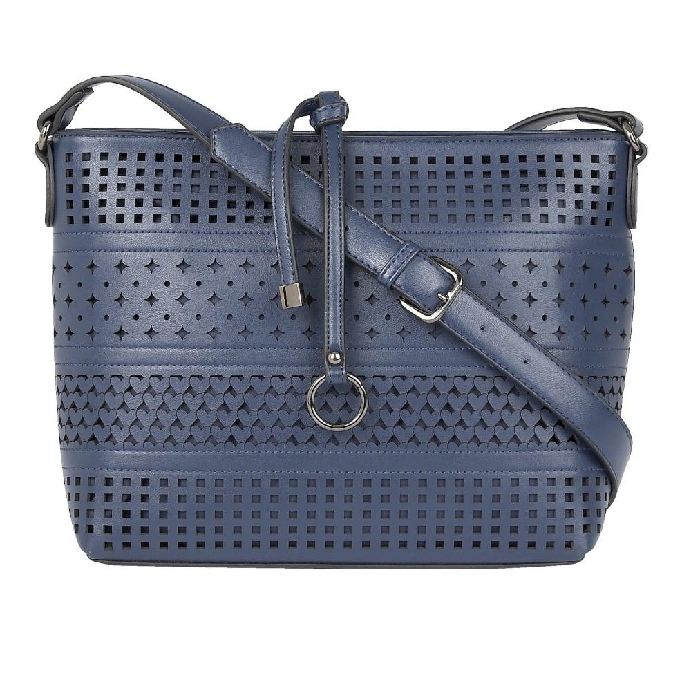 Navy Houston Handbag | Lotus