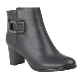 Navy Jeckle Ankle Boots | Lotus
