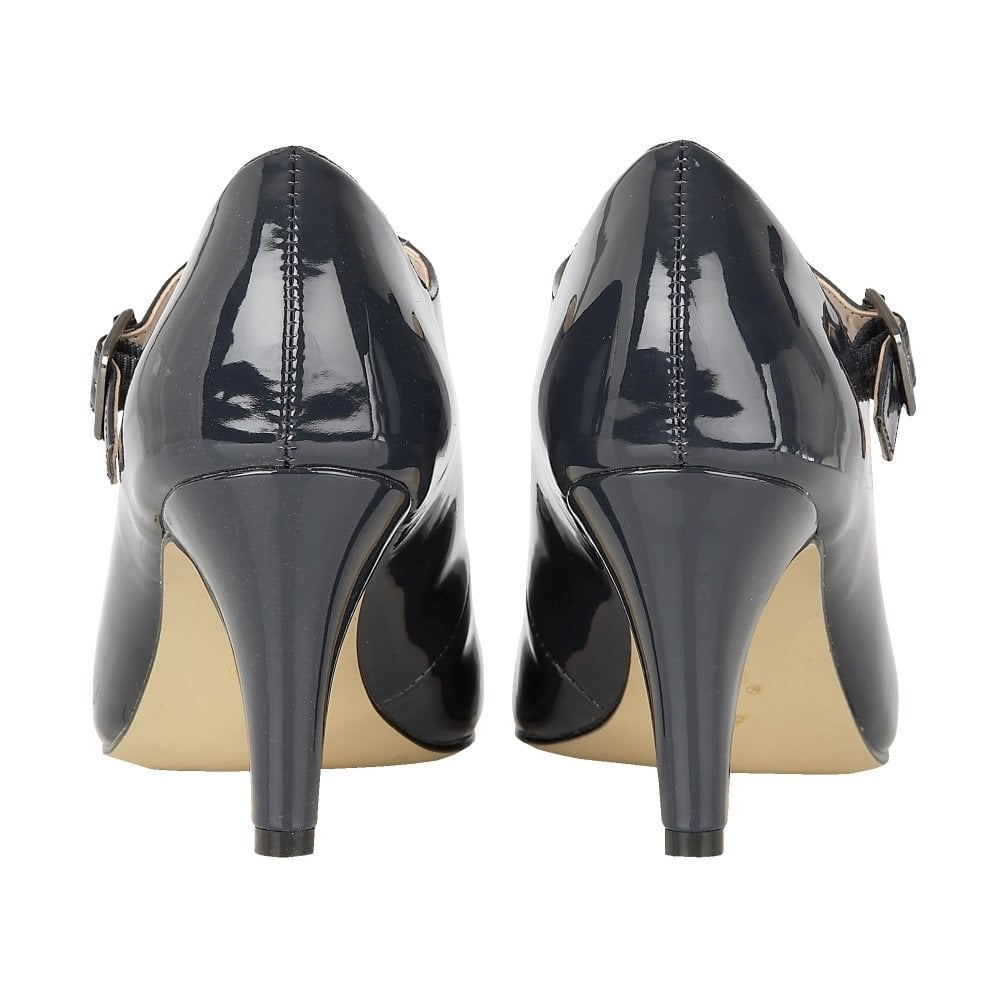 9e68616958 Buy the Lotus ladies' Laurana court shoe in navy patent online