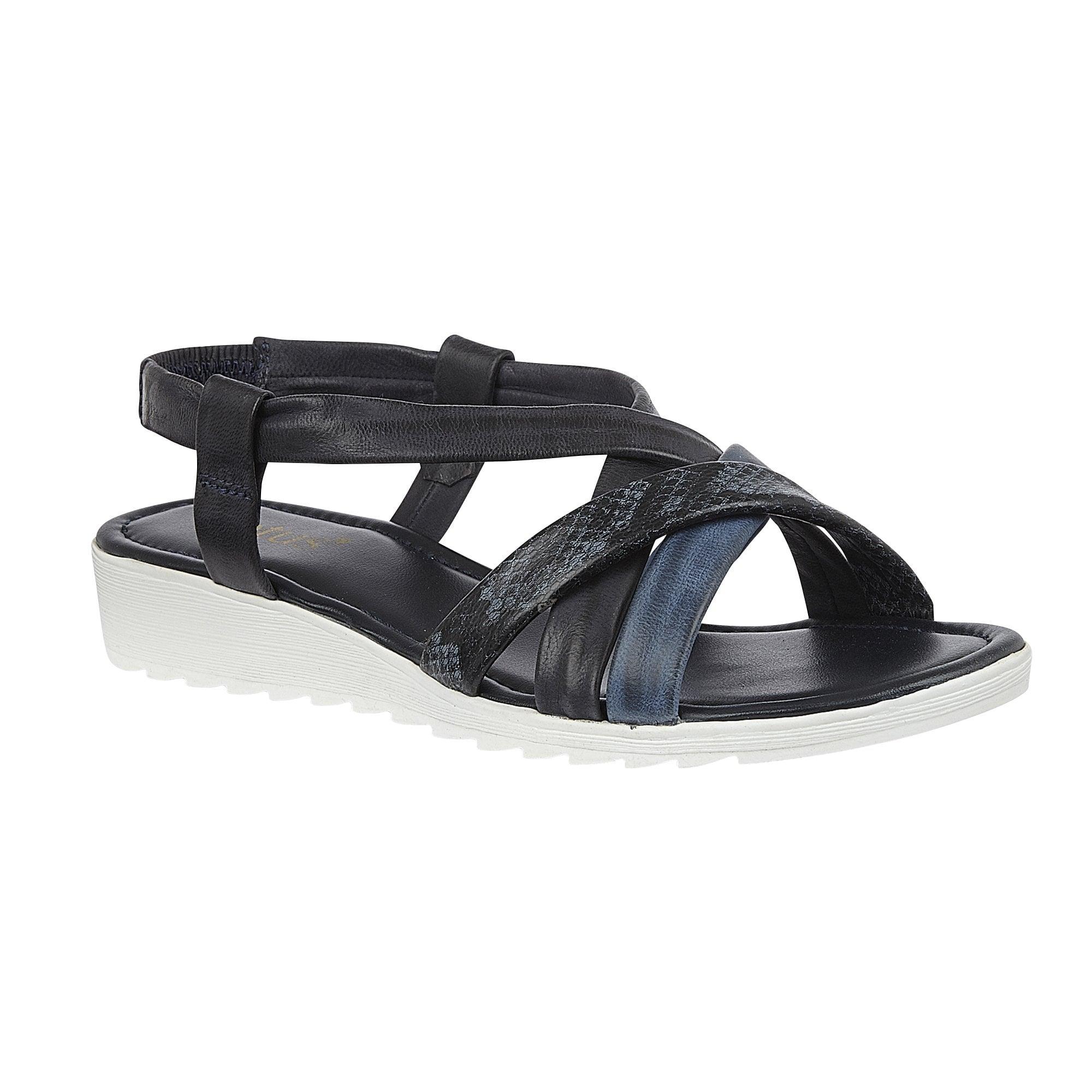 navy Lotus ladies' Rosanne wedge sandal