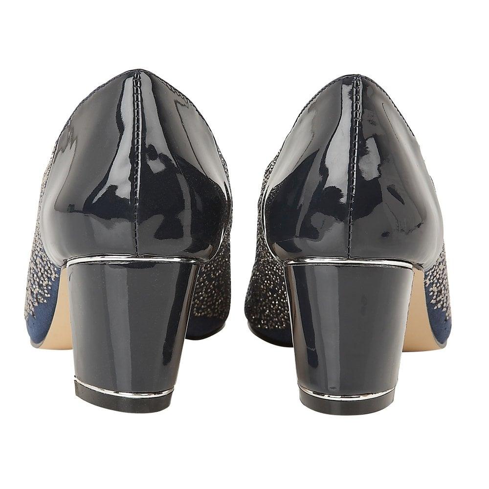 3b6253ce15b8b Navy Patent & Diamante Attica Open-Toe Shoes | Lotus