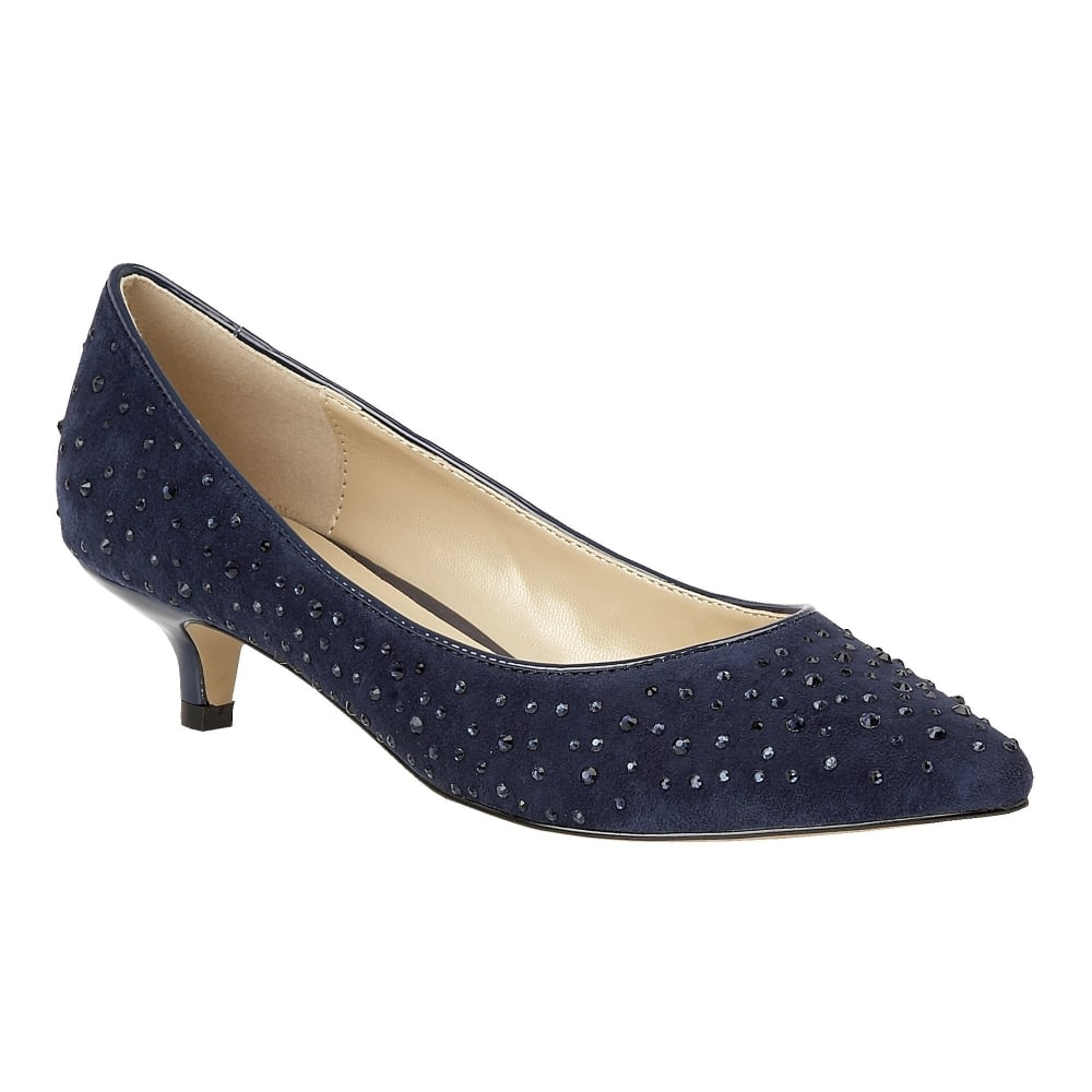 158ead9c9b3f Navy Leather Block Heel Pumps Navy Heels Shoes: Buy The Lotus Ladies'  Pinnacle Court Shoe In Navy Online