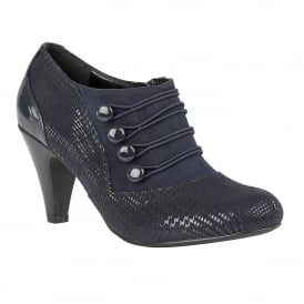 Navy Print Dolley Shoe-Boots | Lotus
