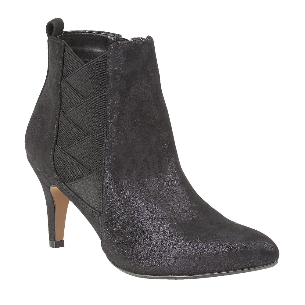 Buy The Lotus Ladies Booney Ankle Boot In Navy Shimmer Online