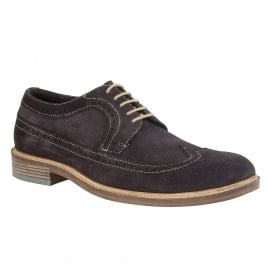 Navy Suede Wentworth Lace-Up Brogues | Lotus