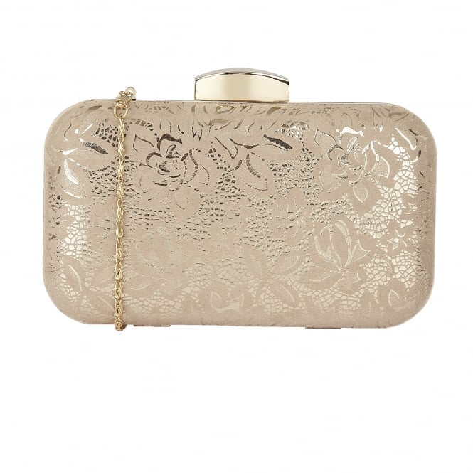Nude Floral Printed Puffin Clutch Bag | Lotus