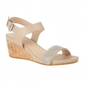 5a970cb7ca4196 Nude Glitz Ace Wedge Open-Toe Sandals