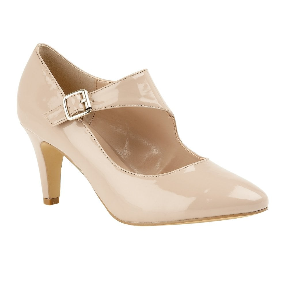 b6de42646c5 Nude Laurana Patent Court Shoes | Lotus