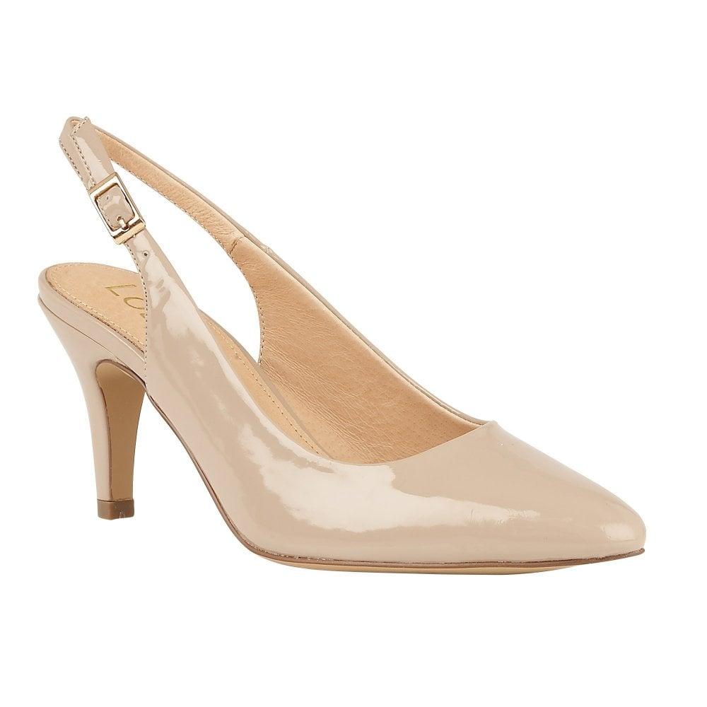 a60b99c25a9 Buy the nude patent Lotus women's Lizzie court shoe online