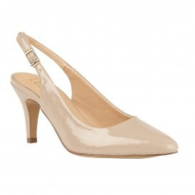 33b08d80ce15 Nude Patent Lizzie Sling-Back Shoes   Lotus