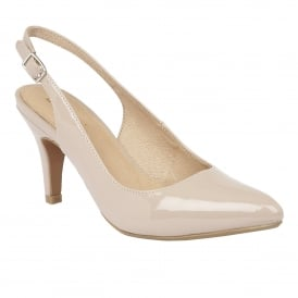 Nude Patent Nadia Sling-Back Shoes | Lotus