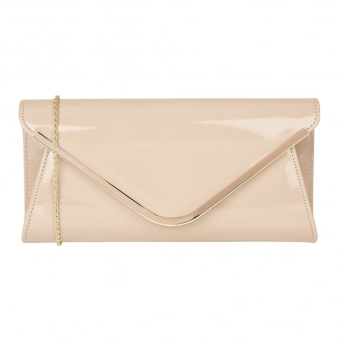 Nude Shiny Sommerton Clutch Bag | Lotus