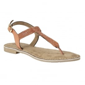 Orange Duca Toe-Post Sandals | Lotus