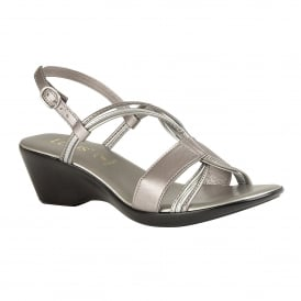Pewter Carrara Wedge Sling-Back Sandals | Lotus