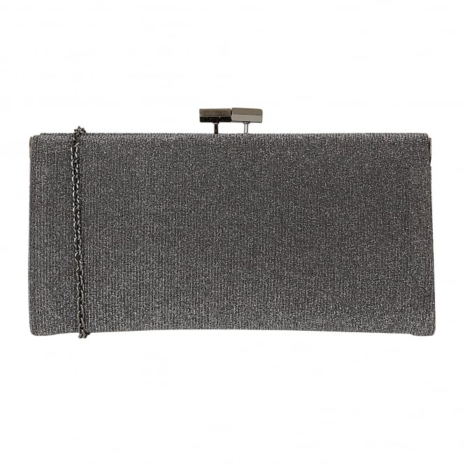 Pewter Chicory Textile Clutch Bag | Lotus