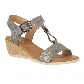 469609f4f2792e Pewter Ginny Wedge Open-Toe Sandals