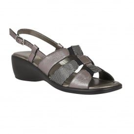 Pewter Lantic Leather Sandals