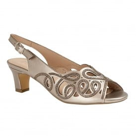 Pewter Marianna Open-Toe Sling-Back Shoes | Lotus