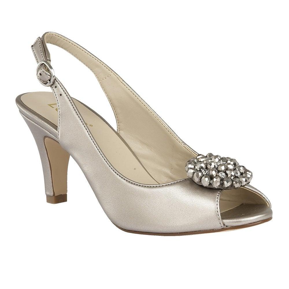 Elodie open toe slingback shoe