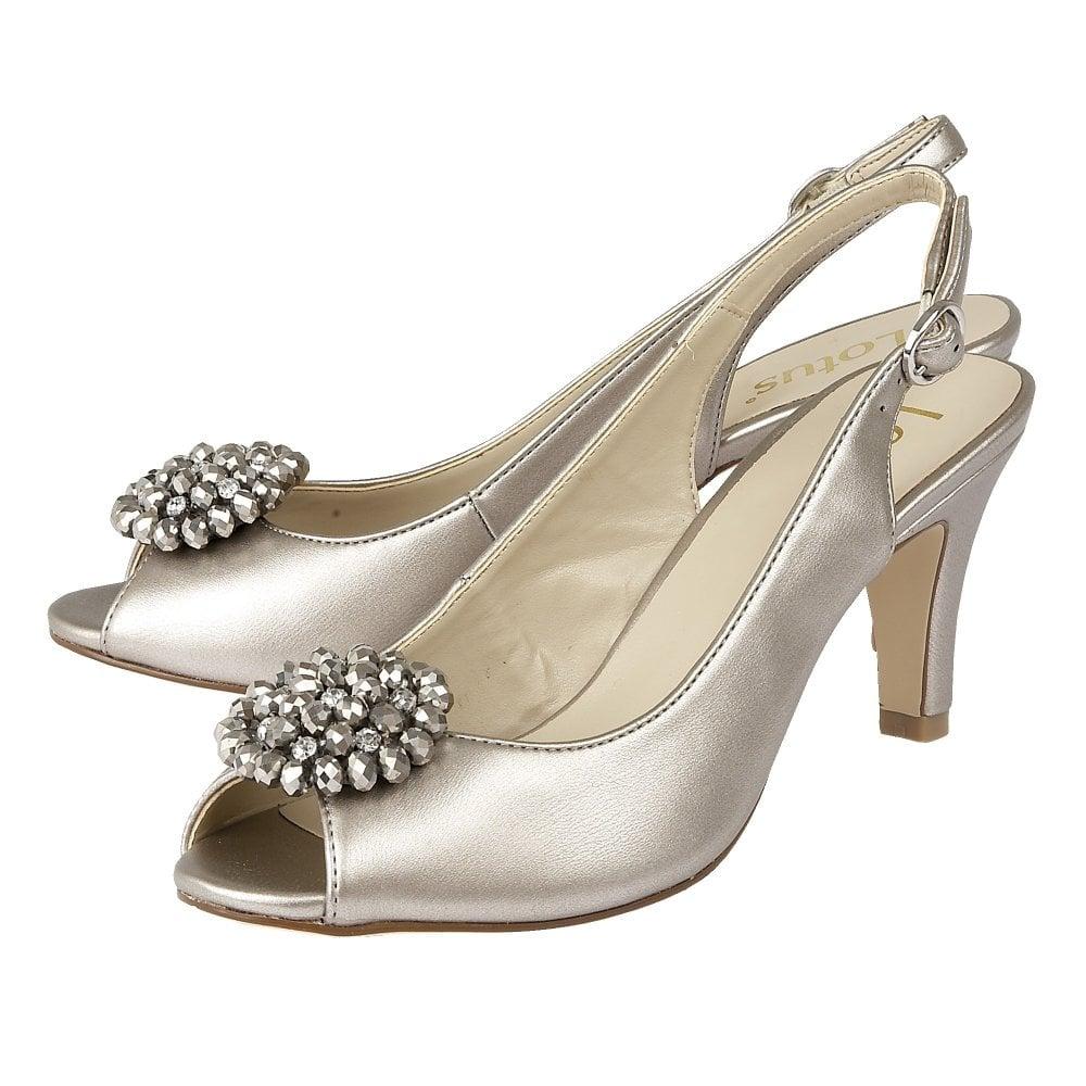 Buy the Lotus ladies  Elodie open toe slingback shoe in pewter online 78cbede80d3b