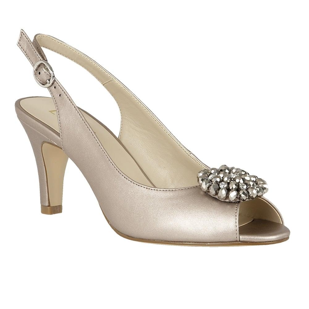 Pewter Metallic Heeled Shoes