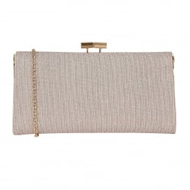 Pink Chicory Textile Clutch Bag | Lotus