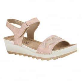 Pink Massari Wedge Sandals | Lotus