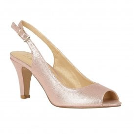 9104fafd8dfb Pink Metallic Larissa Sling-back Shoes | Lotus