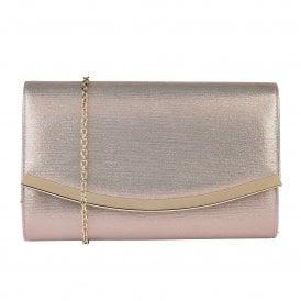 da6229f6c6f1 Pink Metallic Vanessa Clutch Bag