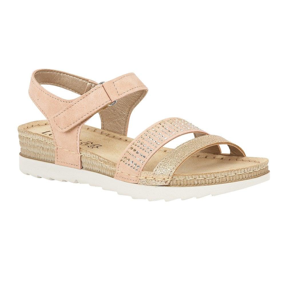 378726e8704 Pink Taryn Wedge Velcro Sandals   Lotus