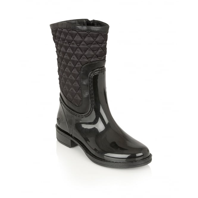 Posh Wellies Cinnabar Black Mid-Calf Boots