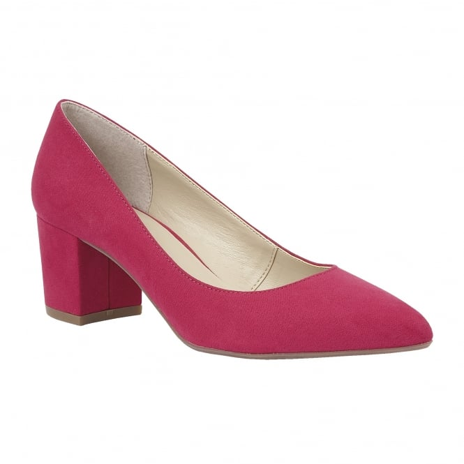 Raspberry Briars Microfibre Court Shoes | Lotus