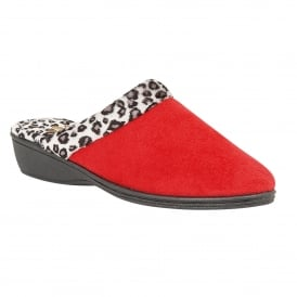 Red Airelle Mule Slippers | Lotus