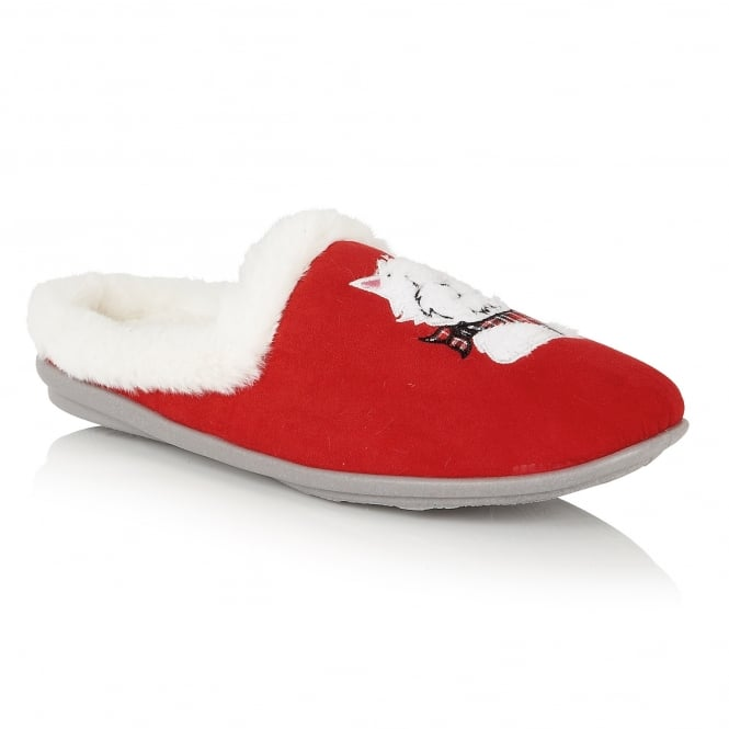 Red Archie Mule Slippers | Lotus