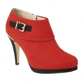 Red Vollmer Microfibre & Patent Shoe-Boots | Lotus