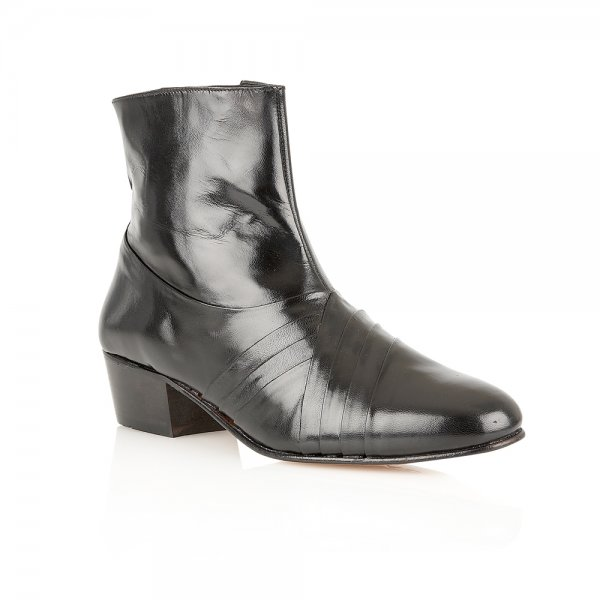 Buy Rombah Wallace Curzon Black Leather Ankle Boots Online