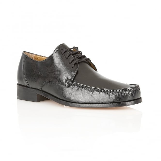 Rombah Wallace Men's Seville Shoes Black Leather