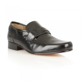 Men's Shaftsbury Black Leather Loafers