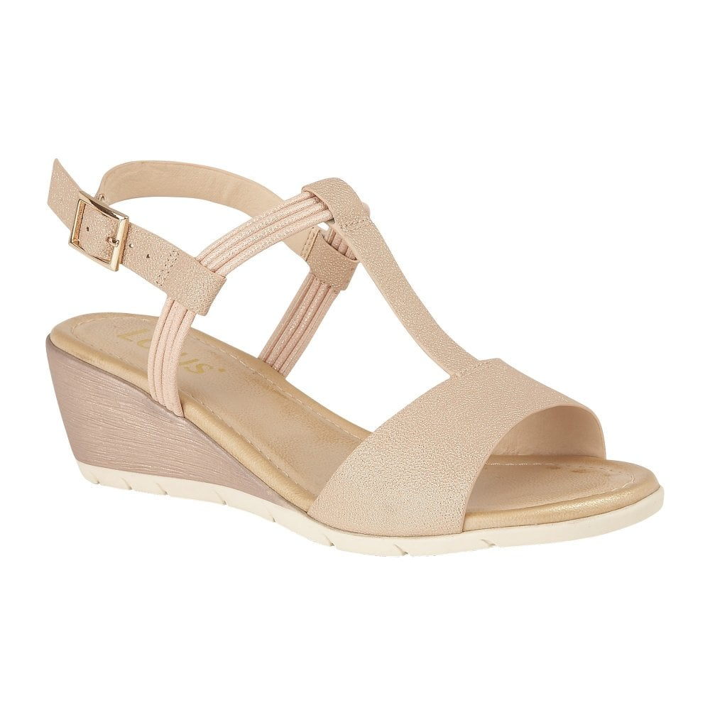 25c8f08b08 Buy the rose gold Lotus ladies' Kiera wedge sandal online